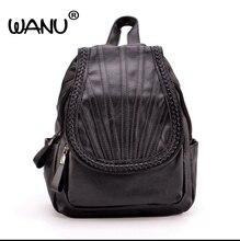 Wanu Новинка Кожа Для женщин рюкзак мода высокое качество элегантный дизайн для подростков Обувь для девочек сумка дорожная сумка портфель