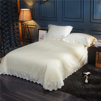 1 3 Pcs Washed Silk Pure 11 Colors Embroidery Bed Sheet Pillowcases Silky Smooth High Quality