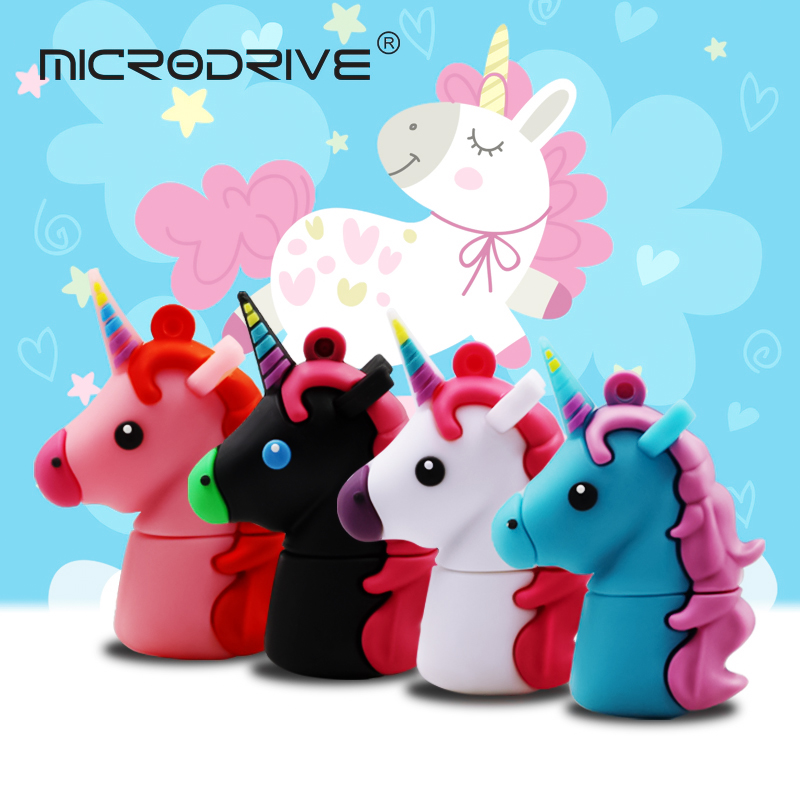 Computer & Office High Speed Usb 3.0 Flash Drive Lovely Colorful Unicorn Pen-drive 4gb 8gb 16gb 32gb 64gb Pendrive Horse Usb Memory Stick Usb Flash Drives