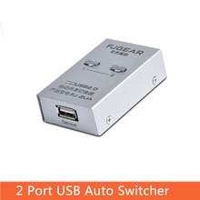 2 port USB Switch selector Auto Printer switch Sharer in 1 out Two computers share one Device FJ-2UA