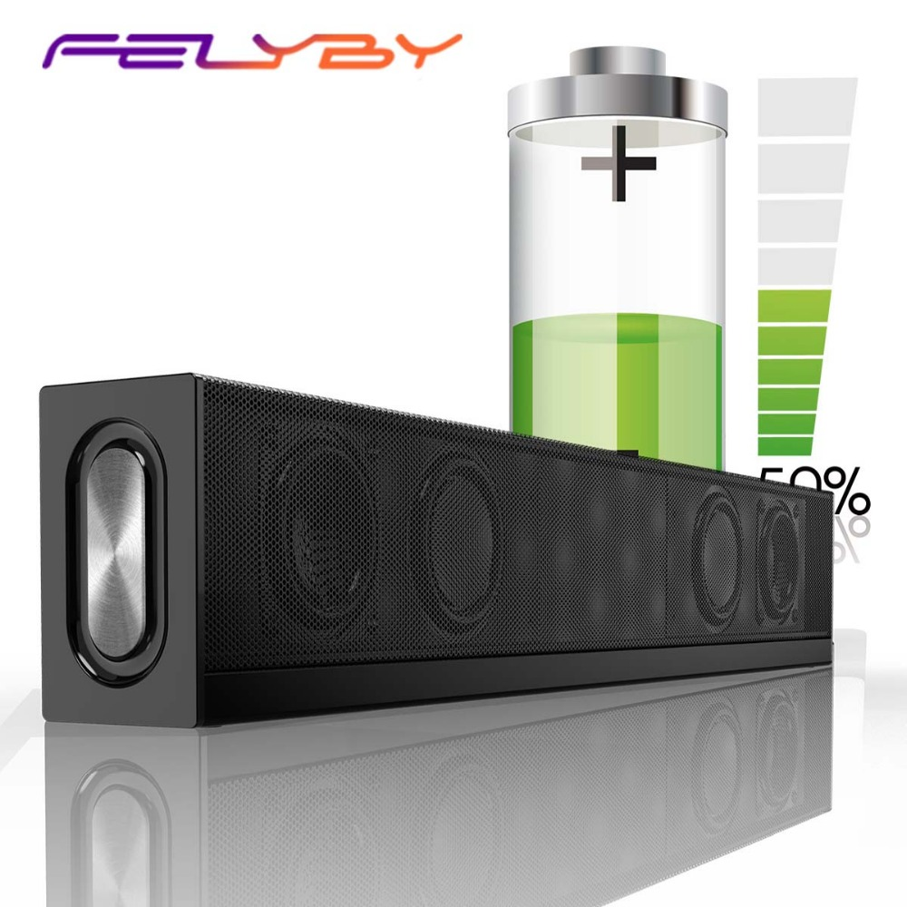 FELYBY S688 Wireless Bluetooth Speaker Soundbar Subwoofer Home Theater Speakers AUX TF Computer Audio Speaker Column