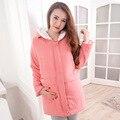 Ropa de maternidad de moda invierno de lana bereber wadded invierno chaqueta de algodón acolchado abrigo de manga larga mujeres embarazadas