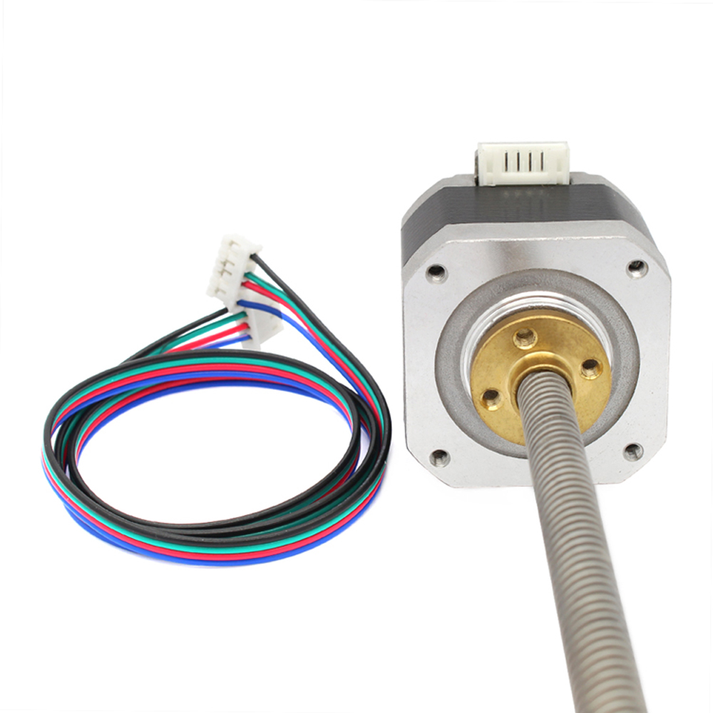 ANYCUBIC NEMA 17 Stepper Motor With T8 Lead Screw 300mm For 3D Printer Z Axis nema23 linear stepper w 310mm tr10 4 lead screw for 3d printer desktop straight screw motor