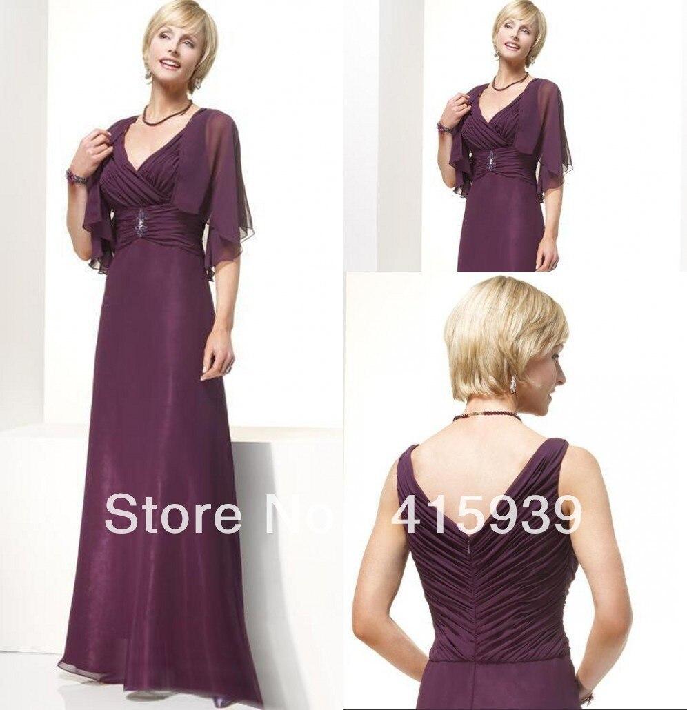 Elegant Wedding Gowns For Older Brides: Free Shipping Elegant Floor Length Mother Of Bride Dresses