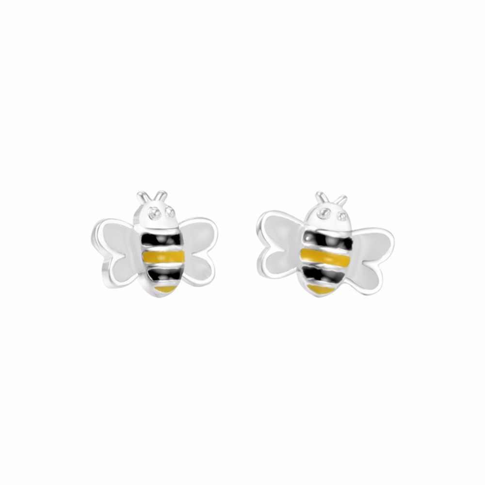 Cxwind การ์ตูนเคลือบกระต่ายต่างหูสาวสัตว์ Bee สุนัขดอกไม้ต่างหูผู้หญิงเลดี้เกาหลี Minimalist เครื่องประดับ