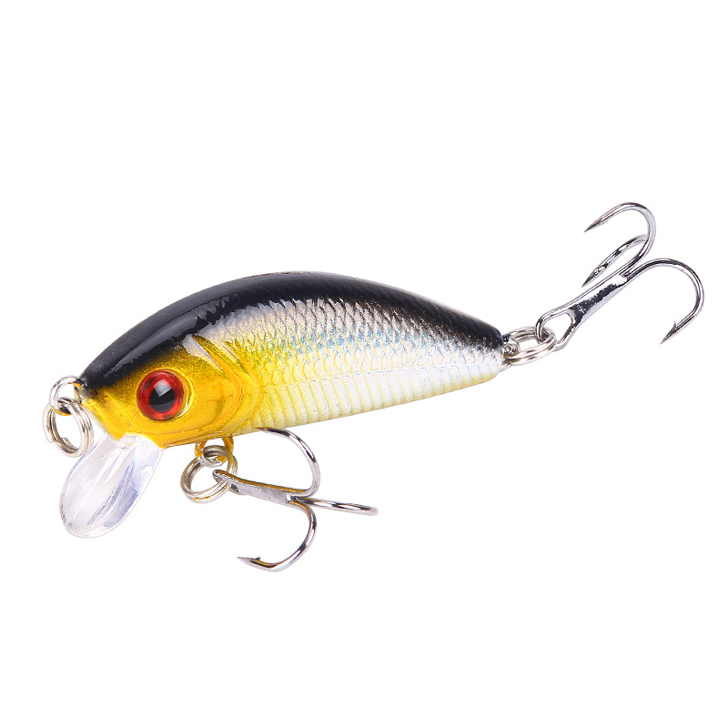 Minnow Fishing Lure 50mm 4.2g Topwater Hard Bait Japan Crankbait Carp Fishing Wobblers Artificial Tackle FA-33