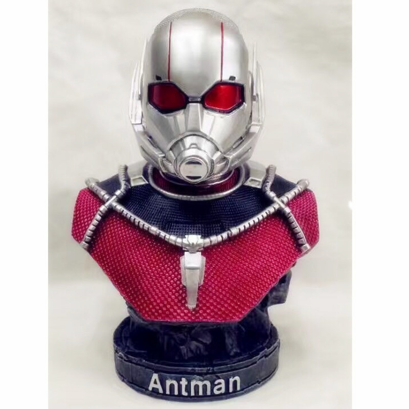 7 Resin The Avengers Ant-Man Statue 1/4 Black Panther Bust Statue PVC Action Figure Collection Decoration G783 marvel avengers statues ironman ant man thanos black panther action figure home decoration gift ant man antman iron man statue