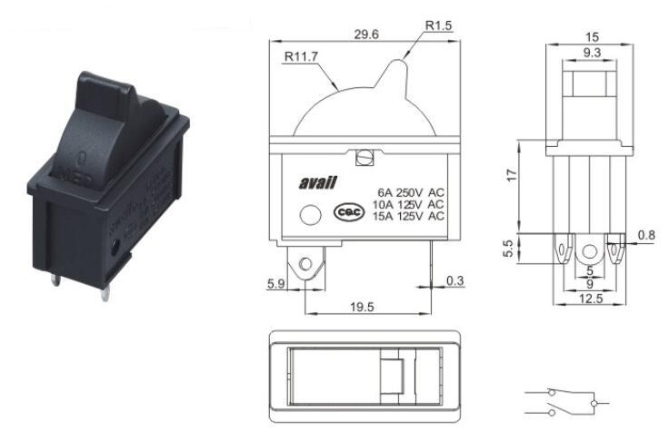 UPS DHL FEDEX Free 1000pcs Hairdresser Switch 125v/15a 250v/6a аксессуары для телефонов senter st 220 dhl ups fedex ems st220