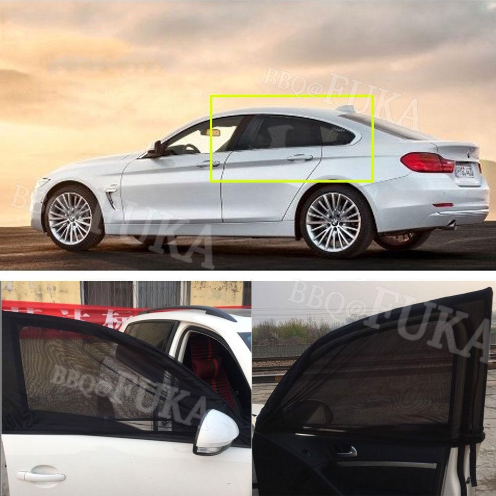 2 x Car Front  Rear Side Window Sun Visor Shade Mesh Cover Shield Sunshade b9209329ef0