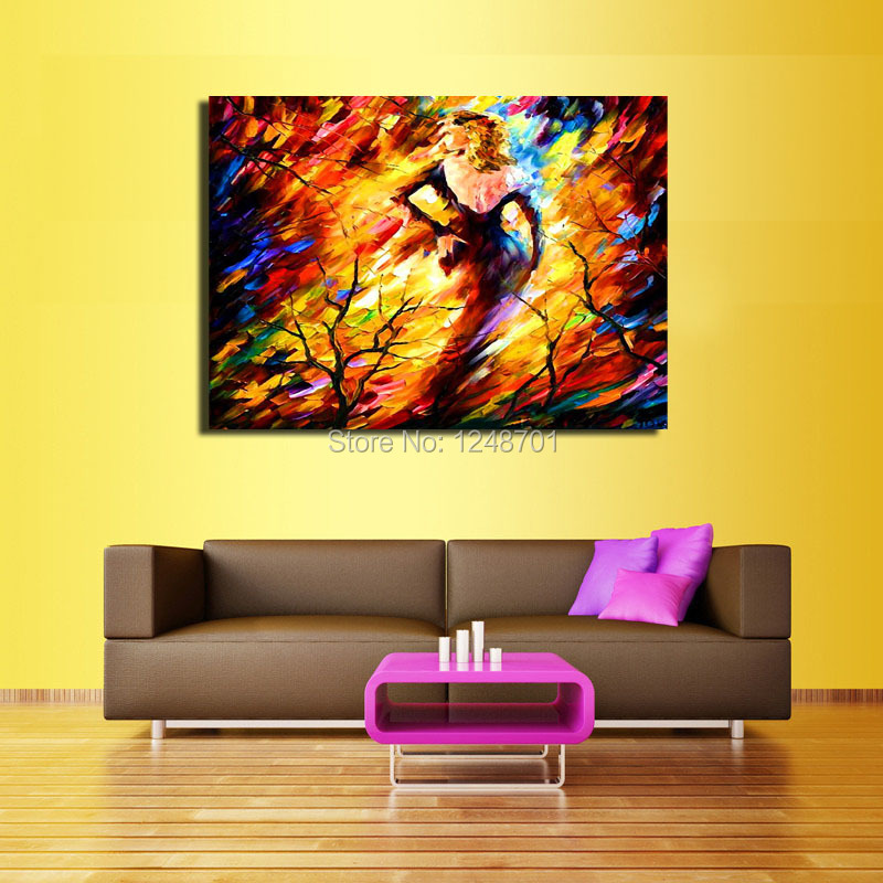 Palette Knife Oil Painting Naked Woman Modern Wall Art On Canvas ...