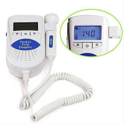 17 new US Sale CE FDA Sonoline B Fetal heart doppler/Backlight LCD 3M Probe +gel,Contec