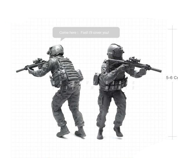 1/35 Modern U.S Marines Helicopter Service Military Soldier Resin Model Figure BEE-02 ...
