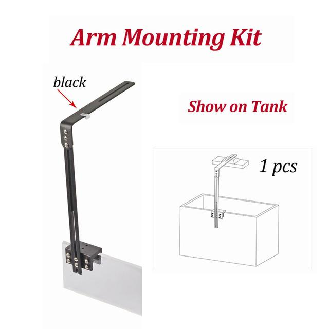 PopBloom LED aquarium  fish lighting arm mounting kit  led lighting accessory  mounting instal way silver arm mounting kit