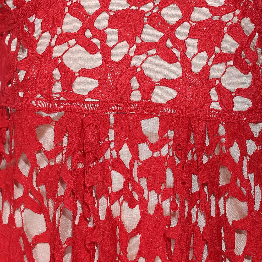 VESTLINDA Spaghetti Strap Backless Hollow Out Crochet Lace Dress Women Vestidos Mujer Robe Femme 2017 Summer Sexy Maxi Dress 12