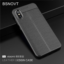 For Xiaomi Mi 8 Explorer Edition Case Soft Silicone PU Leather Shockproof Anti-knock Phone