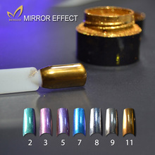 2g/bottle Mirror Nail Polish Glitter Powder Shinning Mirror Effect Nail Art Chrome Mirror Powder Manicure Pigment Glitter