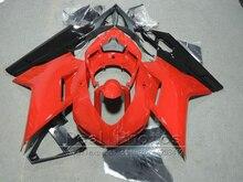 Бесплатная настроить Обтекатели для Ducati 848 1098 07 08 09 10 11 темно-красный черный мотоцикл обтекатель комплект 848 1098 2007 -2011 AS12