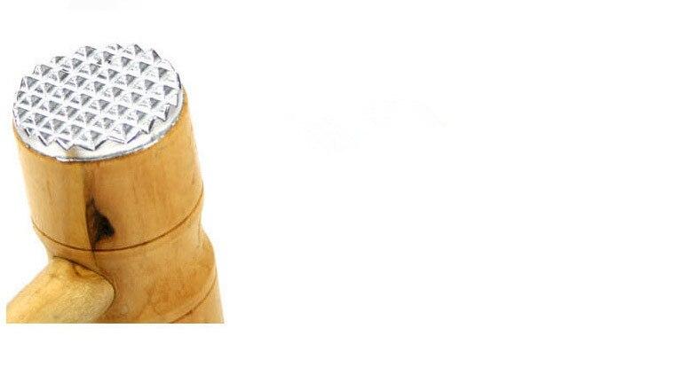 1 шт. алюминиевый сплав с деревянной ручкой кухонный двойной пирамидальной формы головки тендерайзер мясной молоток инструмент ок 0499