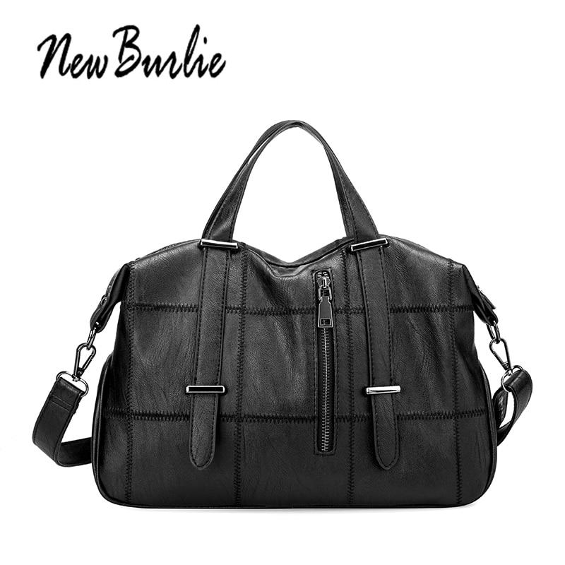 New Burlie 2018 Large Capacity Soft Leather Bags Women Handbags Ladies Crossbody Bags Messenger Shoulder Bags Female Bag Totes