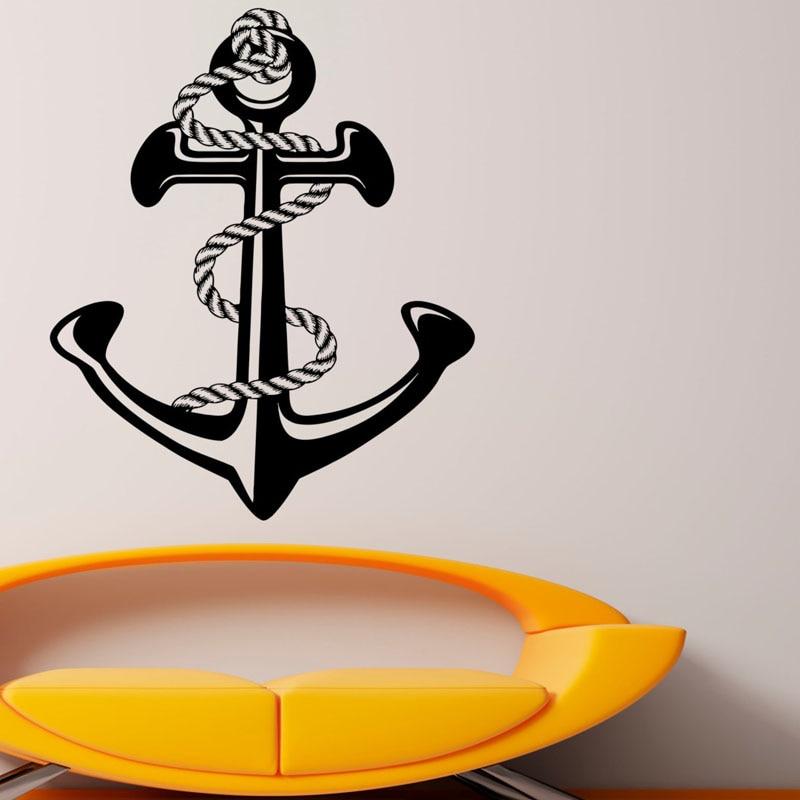 Sea Ocean <font><b>Nautical</b></font> Anchor Vinyl Art Wall Stickers <font><b>Home</b></font> <font><b>Decor</b></font> Hot Sales Wall Decal Decoration Rooms Decals