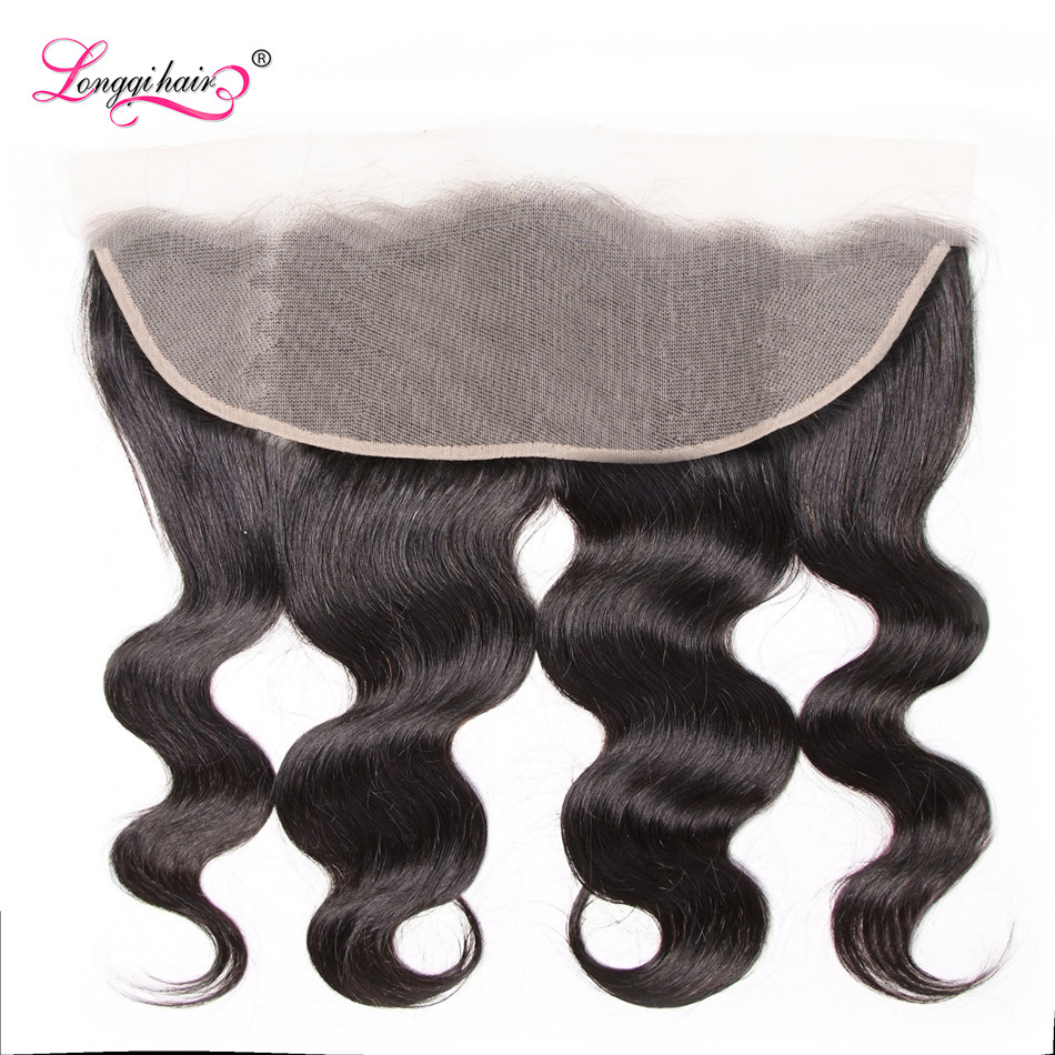 Longqi Hair Brazilian Body Wave 13x4 Transparent Lace Frontal Remy Human Hair Transparent Frontal 10 - 20 Inch Free Shipping(China)