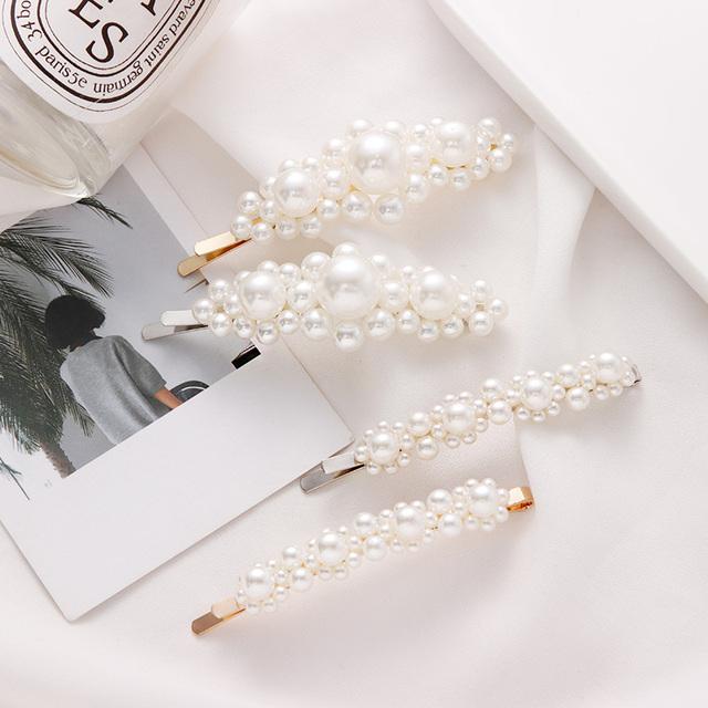 Horquilla Elegante con Perla de Aleación