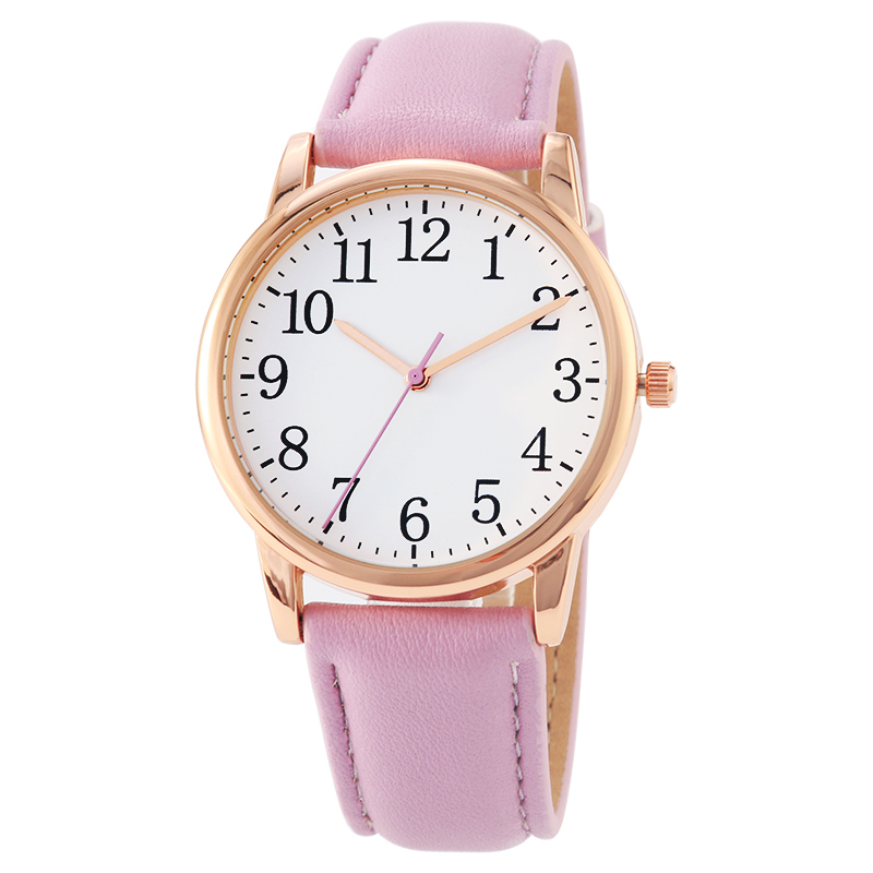 Luxury Women's Watches Fashion female Casual wristwatch ladies Arabic number dial Leather Quartz Watch wrist цена