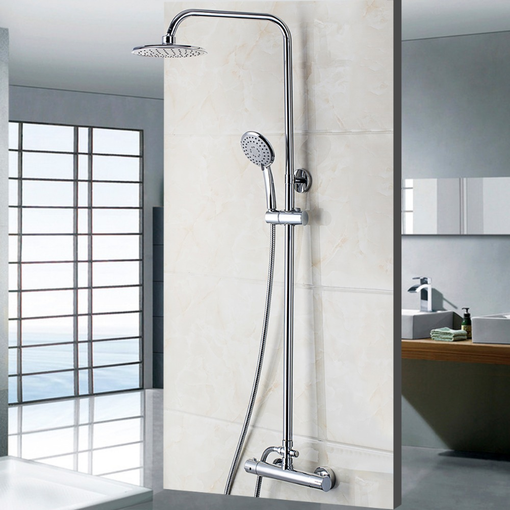 compare prices on modern shower faucets online shoppingbuy low  - new modern bathroom faucet chrome polished shower set hotcold mixers tapswall mounted rainfall shower faucets