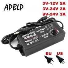 Регулируемый адаптер переменного тока в постоянный ток 3 В-12 в 3 в-24 в 9 в-24 в универсальный адаптер с экраном дисплея Регулируемый адаптер питания 3 12 24 В