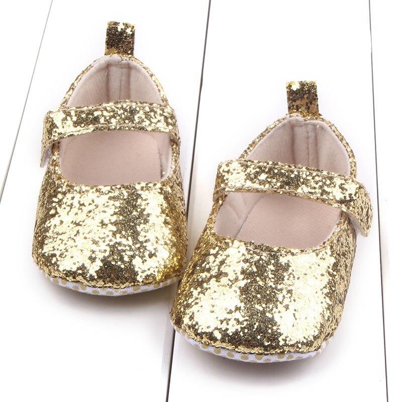 Baby meisjes eerste Walker peuter katoen Sequin baby zachte enige - Baby schoentjes - Foto 1