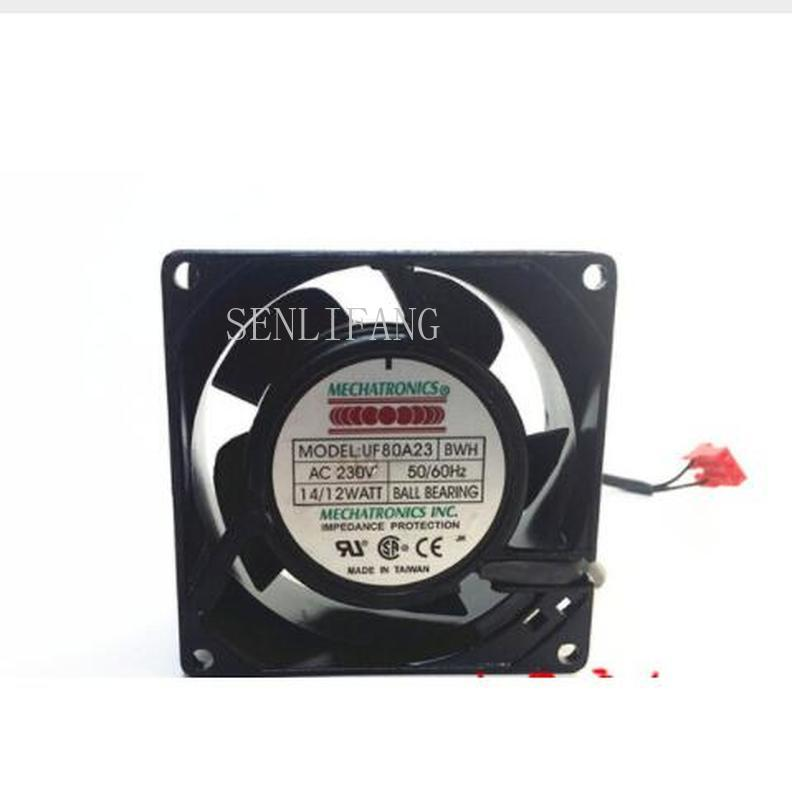 Free Shipping Original Authentic Mechatronics UF80A23 BWH 80*80*38 230V 14/12W Fan