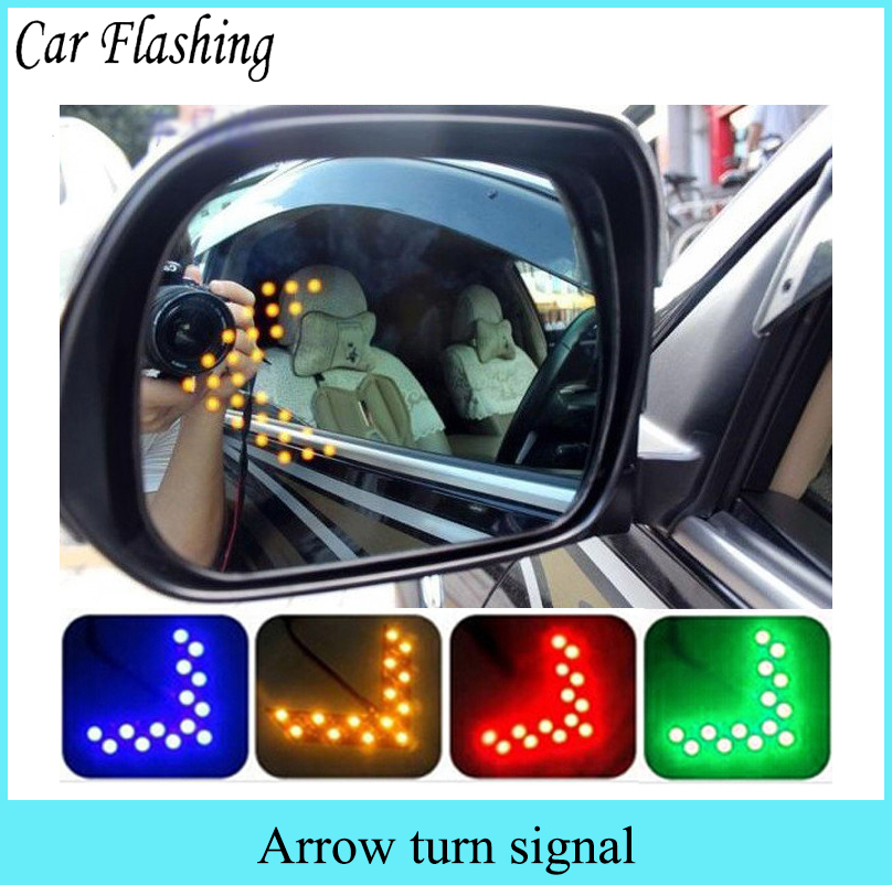 Car Flashing 2pcs 14smd Led Arrow Panel For Car Rear View
