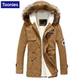 Winter Warm Thicken Cotton-padded Jacket Men Fur Collar Men's Parka Coat Long Sleeve Large Size 4XL All-match Army Green 5 Color