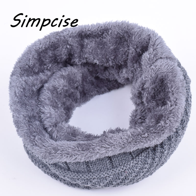 Simpcise Winter Cotton Women Children Men Loop Scarf
