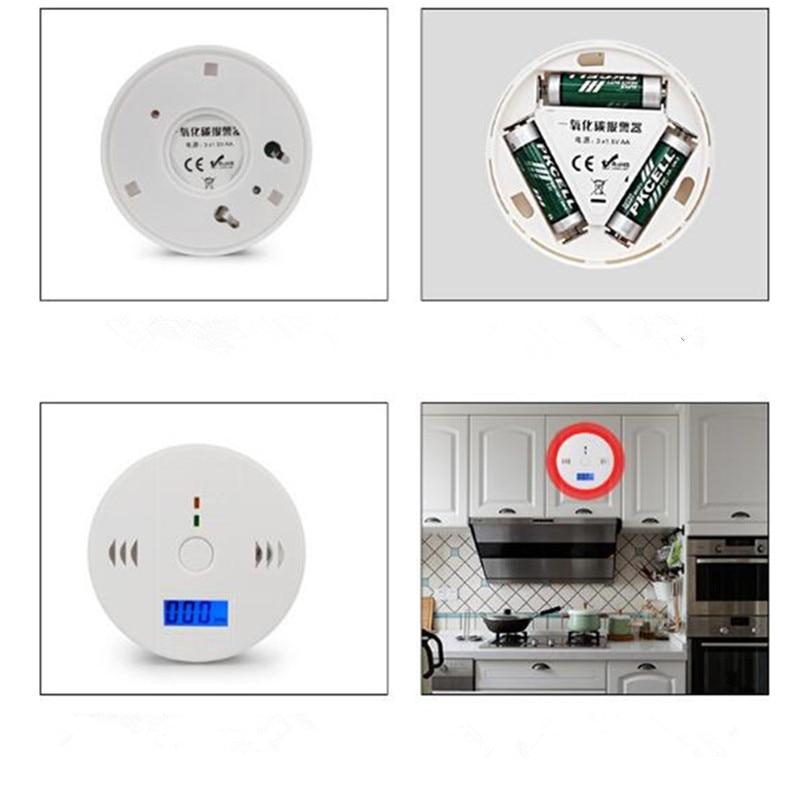 Home Safety CO Carbon Monoxide Smoke Poisoning Gas Sensor High Sensitivity Warning Alarm Detector Kitchen