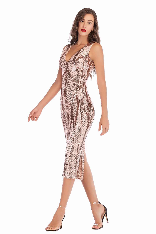 86a46da537e82e2 ... Пикантные черные сапоги макси с пайетками летнее платье женщин Befree  элегантный винтажный bodycon вечернее платье ночной ...