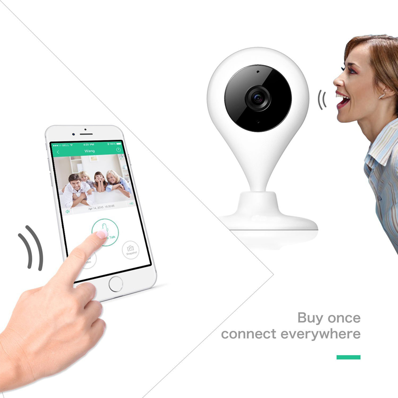 2017 baby camera monitor 720P Surveillance Camera Night vision 2 way talk Real-time video 360 Rotation wifi camera Max 64G футболка krux real talk black