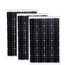 PV Panel 12v 60w 3 PCs Solar Modules 36v 180w Mobile Solar Charger Solar System For Home Off Grid Light LED RV Motorhome Car study on solar pv grid connection system