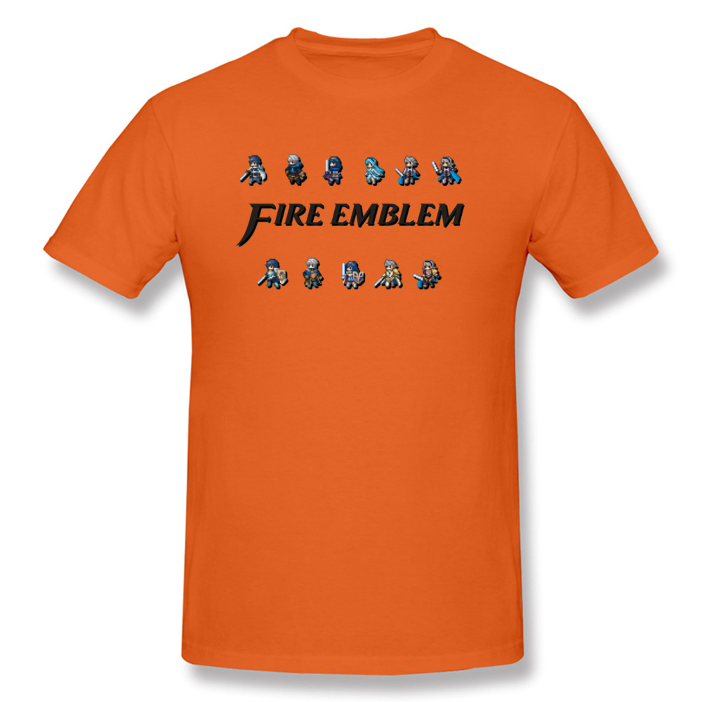 Fire Emblem Game New T Shirts Knight Sorcerer Swordsman Dragon Man Game Print Tshirts Orange Unique Sweatshirts Men image