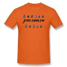 Fire Emblem Game New T Shirts Knight Sorcerer Swordsman Dragon Man Print Tshirts Orange Unique Sweatshirts Men