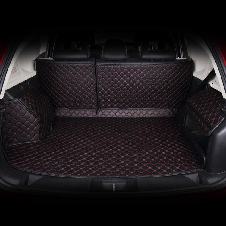 dedicatef full surrounded car trunk mats for Geely Dorsett EC7 EC8 GX7 Chery Tiggo 3 A3 5