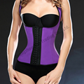 New 9 Steel Boned Latex Waist Trainer Vest Plus Size Corsets And Bustiers Women Underbust Waist Trainer Corsets Latex