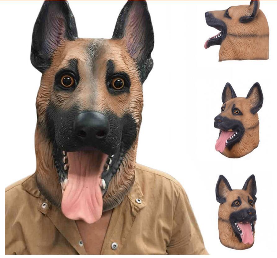 Effrayant loup chien Latex masque respirant nouveauté visage complet masque Halloween mascarade masque fantaisie robe Festival fête décoration