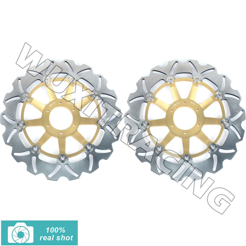 1pair New Floating Front Brake Discs Rotors fit for Honda CB F HORNET/599 05 06 S F2 600 CB F HORNET F2 S 600 00 01 02 03 04 expert 220 w 200 f2 f2 f2 000 серии