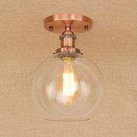 IWHD Führte Deckenleuchten Für Wohnzimmer Glas Ball Lampara de techo Vintage Deckenleuchte Hause Leuchten Schlafzimmer Lüster|ceiling lamp|lamps for living roomlighting fixtures bedroom -