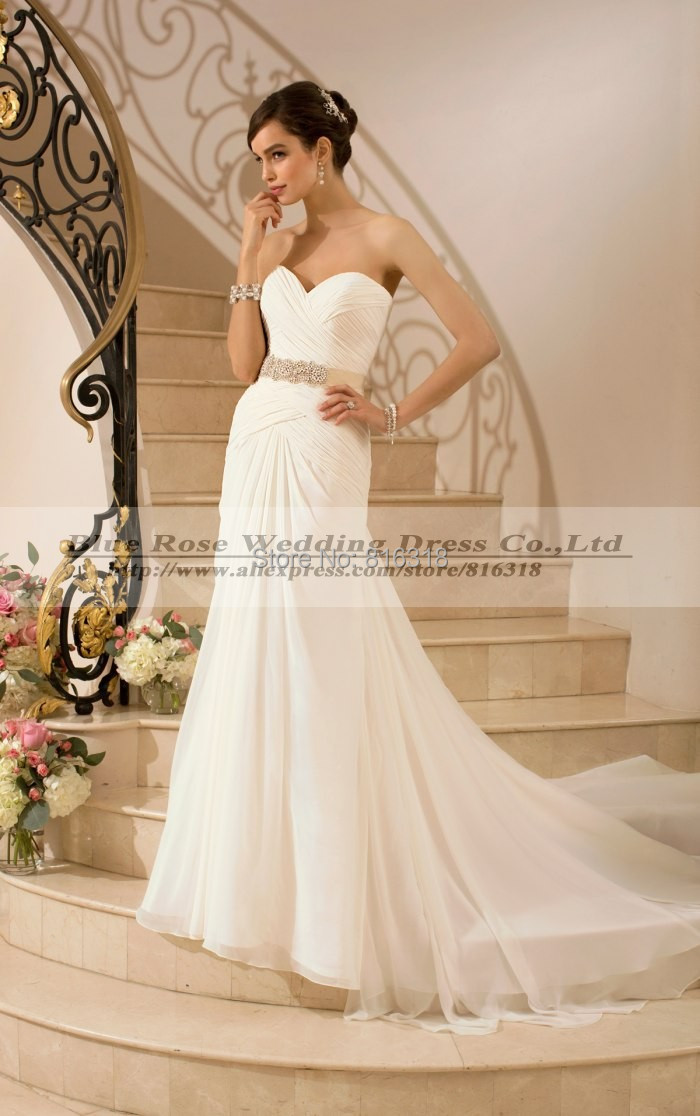 Buy vestido de noiva 2016 chiffon boho for Cheap boho wedding dresses