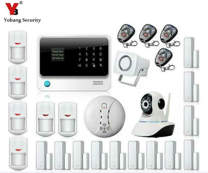 Yobang Sécurité-APP Contrôlée GSM WIFI Système D'alarme de Sécurité Sans Fil Intelligent À La Maison GPRS RFID Alarme avec Surveillance IP Caméra