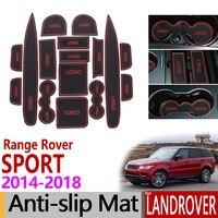 Anti Slip Gate Slot Mat Rubber Coaster for Land Rover Range Rover Sport L4P4 2014 2015 2016 2017 2018 Accessories Car Stickers