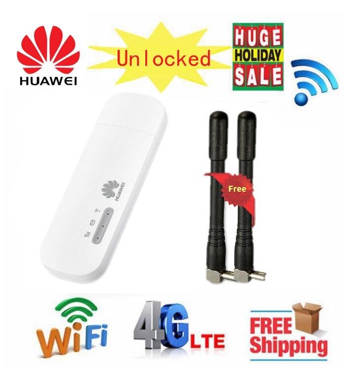 Débloqué Huawei E8372h-153 LTE USB Wingle LTE Universel USB 4G Modem WiFi Voiture Modem WiFi avec 2 pièces Antenne