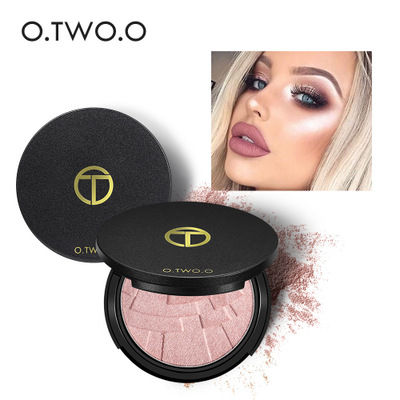 By DHL 200Pcs/Lot Bronzer And Highlighter Palette Glow Kit Powder Face Brightener Make U ...